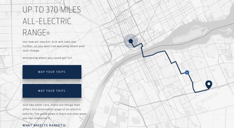 How Far Will Ford's All-Electric SUV Take You? New Website Fea