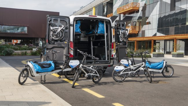 """The next time you order a sweater it could arrive at your doorstep with help from a new """"warehouse on wheels"""" – currently being trialled in London – that has the potential to help cut traffic, reduce emissions, and improve delivery times."""